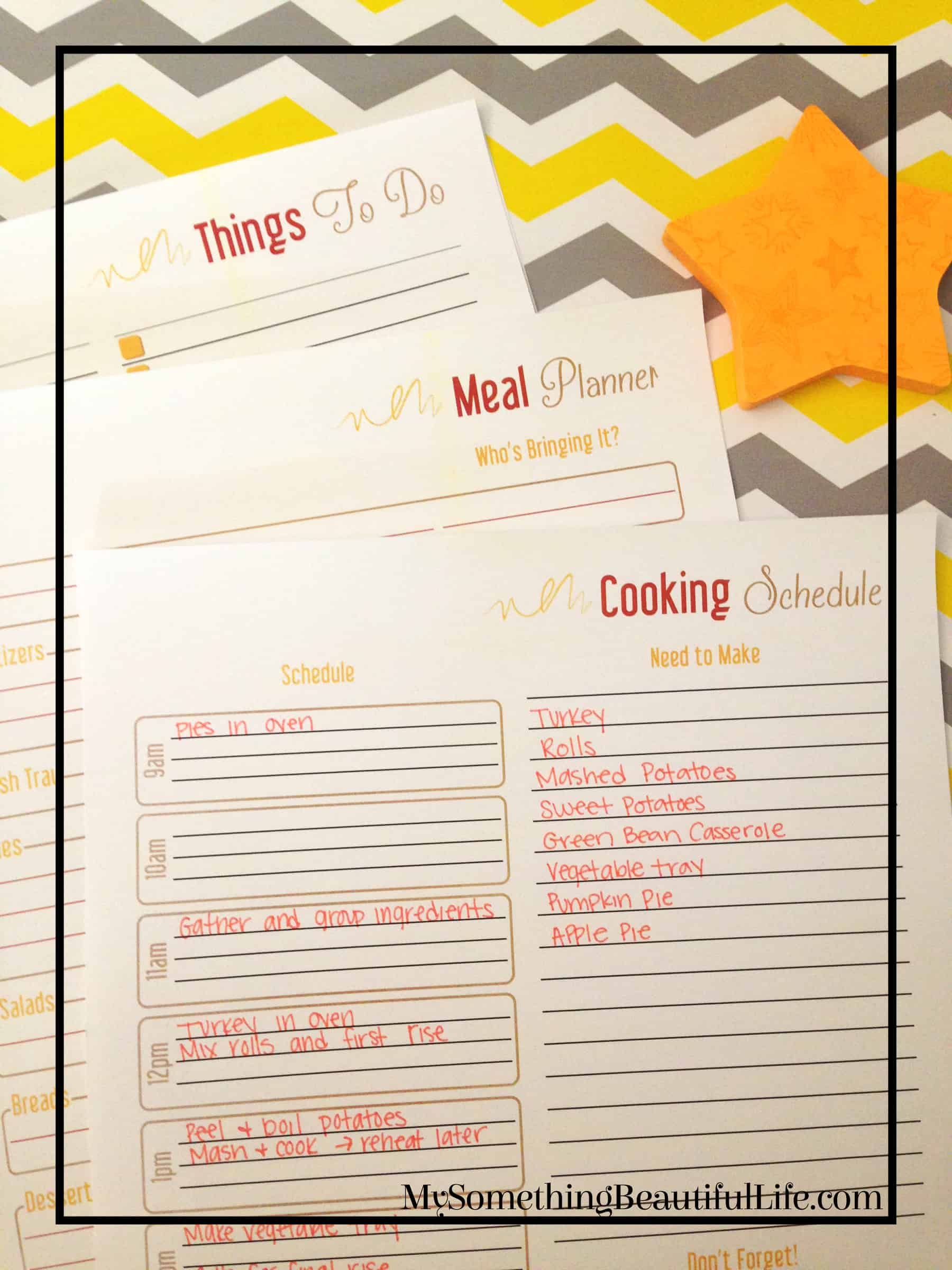 Thanksgiving Holiday Planner Printable