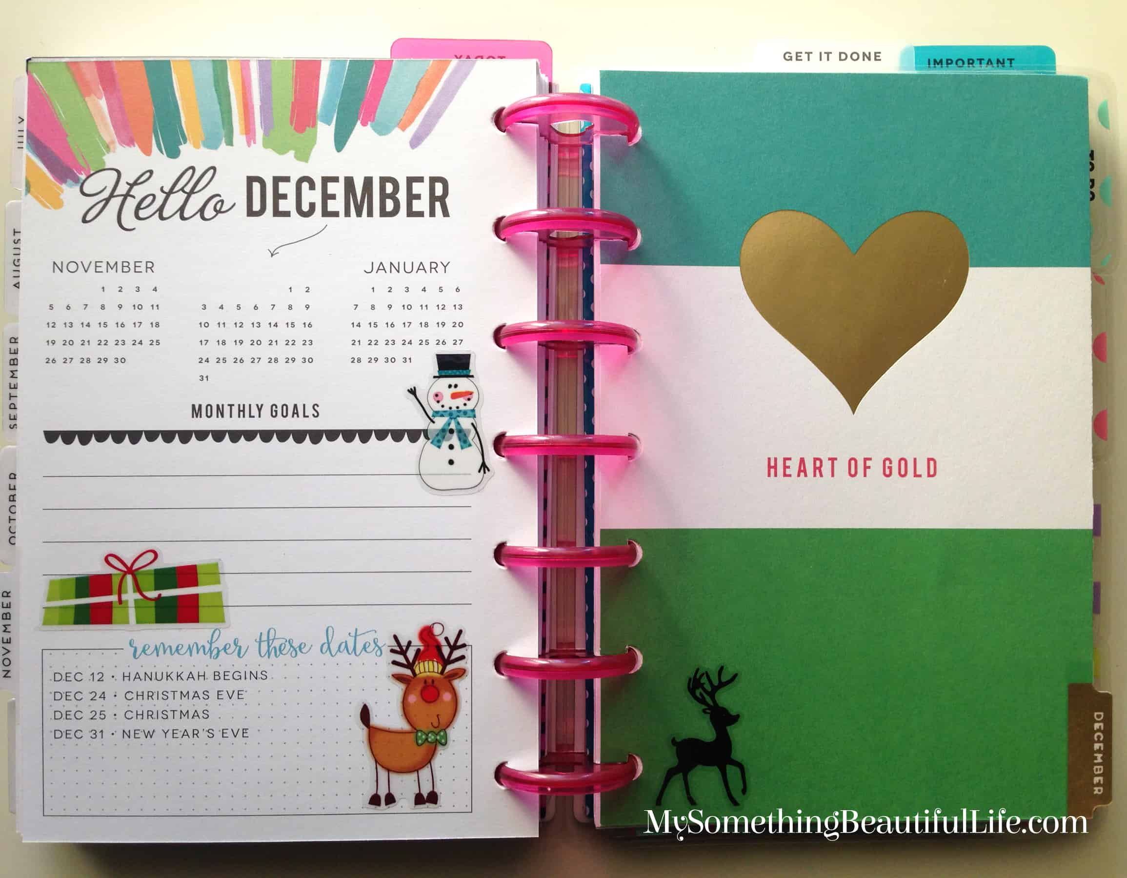 2017 Happy Planner Mini Set-up