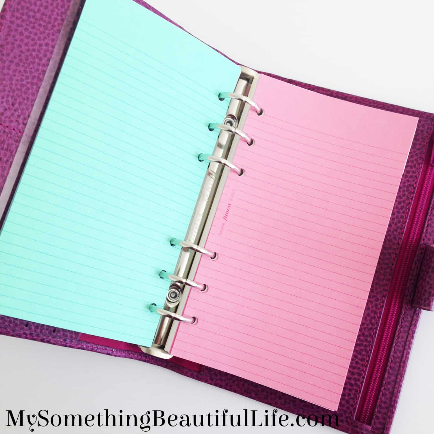 My First Filofax- I will be turning this into my finance planner and wallet | Filofax Personal Finsbury Raspberry
