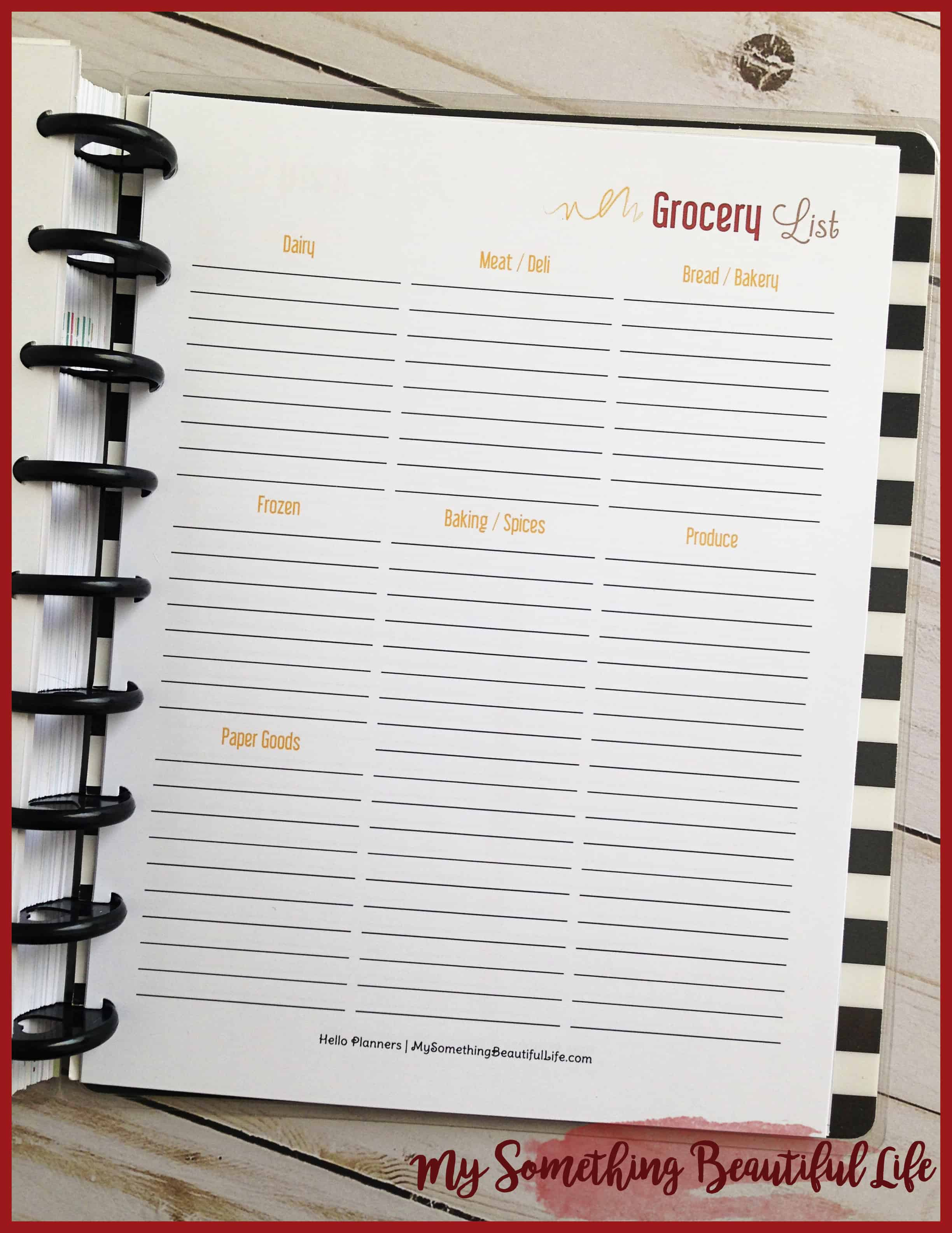 A Holiday Planner Notebook is the perfect way to stay on top of all your holiday planning!