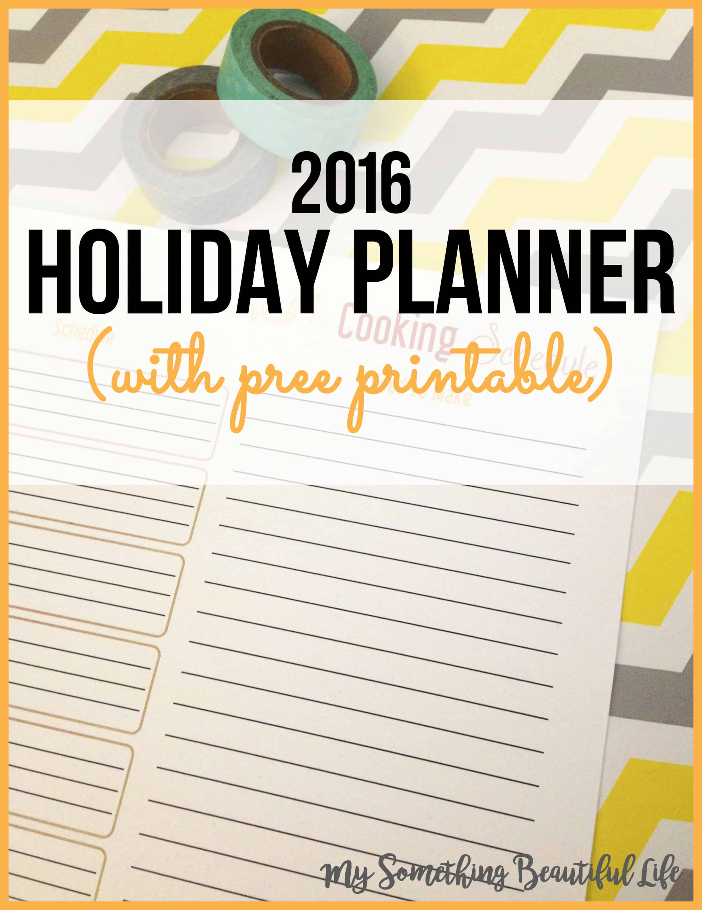 Thanksgiving Planner | Holiday Planner | Holiday Notebook | Free Printable | Thanksgiving Printable | My Something Beautiful Life