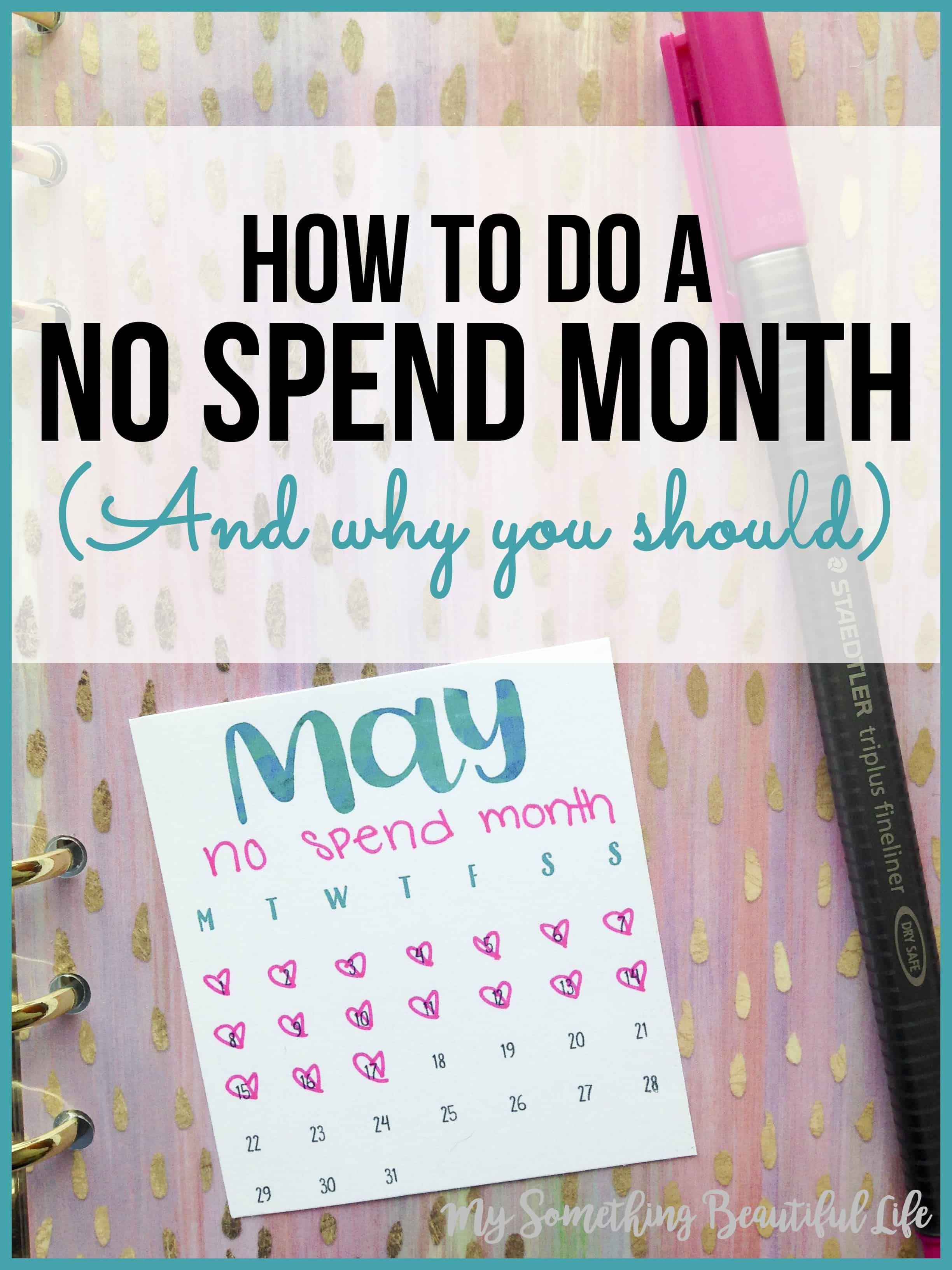 No Spend Month | Zero Spend Month | Zero Spend Challenge | No Spend Challenge | Finance | Budget | My Something Beautiful Life